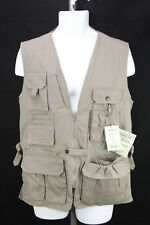 Fox Fire Mens Size SM Khaki Vented Outdoor Hunting Fishing Tactical Camping Vest