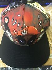 OFFICIAL MARVEL COMICS DEADPOOL ALL OVER PRINT SNAPBACK CAP (BRAND NEW)