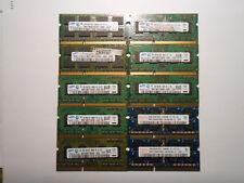 Lot of (10) 2GB Samsung/Hynix DDR3-1333 PC3-10600S SO-DIMM Memory Laptop RAM