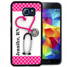 PERSONALIZED CASE FOR SAMSUNG S9 S8 S7 S7 S6 PLUS RUBBER STETHOSCOPE NURSE R