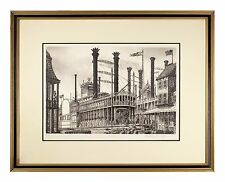 """""""Robert E. Lee"""" Steamboat Etching by Alan Jay Gaines Gorgeous Condition!"""