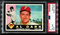 1960 Topps Baseball #472 AL DARK Philadelphia Phillies UER ERROR PSA 8 NM-MT