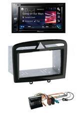 Pioneer Bluetooth DVD MP3 2DIN USB CD Autoradio für Peugeot 308 SW CC 09-14 schw