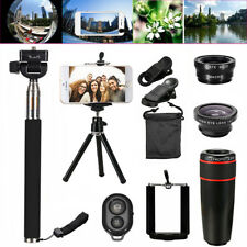 All in 1 Accessories Phone Camera Telephoto Lens Selfie Tripod Kit For Mobile