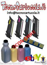 Kit di Ricarica Toner per Samsung CLP 320 N CLT 4072 S C Y M K 4 Colori con CHIP