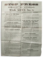 Irish Civil War Broadside From Eamon de Valera's IRA