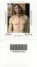 2014 francobollo  Donato Bramante SX CODICE A BARRE 1580