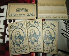 Vintage Antique Zig Zags Mint New Rolling Cigarette Papers 100 papers, 1 booklet