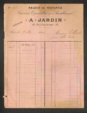 """PARIS (XI°) CUIVRERIE & QUINCAILLERIE pour AMEUBLEMENT """"A. JARDIN"""" en 1894"""