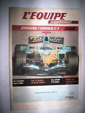 L'EQUIPE SUPPLEMENT SAISON FORMULE 1 2006