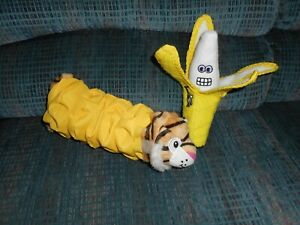 Tuffy Banana Dog Toy And Tiger Water Bottle Toy NWOT