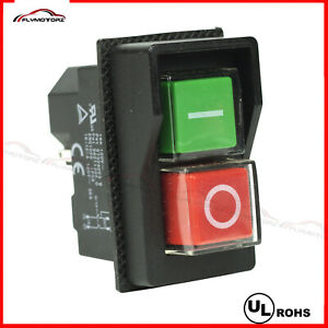UL 110VAC 4 Pin On/Off Waterproof Electromagnetic Pushbutton Switch Saw Drill