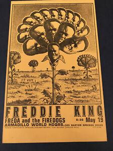 Original 1974 FREDDIE KING AWHQ Show Poster Jim Franklin