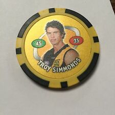 Troy Simmonds Richmond Tigers AFL Poker Chip 2007 Toppz Chips