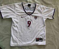 Mia Hamm Vintage Nike 1999 Women's World Cup USA #9 White Jersey Girls Youth M