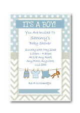 40 Personalised Baby Shower Invitations / Invites With Envelopes Posted 1stclass