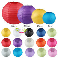 "6"" 8"" 10"" 12"" Chinese Round Paper Lanterns Lamp Shade Wedding Party Decoration"