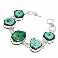 Solar Quartz Druzy Ethnic Jewelry Handmade Bracelet 28 Gms BB-1039