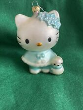 Hello Kitty/snow baby Crafted Glass Christmas Holiday Ornament  Sanrio Wow! LOOK