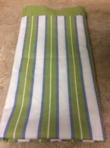MARTHA STEWART COLLECTION PILLOW SHAM EURO STRIPE GREEN BLUE WHITE 100% COTTON