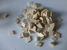 100 VIOLIN REPAIR CLEATS, PRE-CUT DIAMOND, FINE SPRUCE, 16X11X3MM,  UK SELLER!