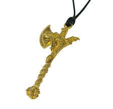 Dragon Axe Pendant Necklace Bronze Brass USA Made Rune Hatchet Battleaxe