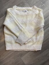 Redherring Fluffy White And Cream Stripe Jumper Size 12