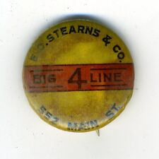 Vintage Antique EC Stearns Big 4 Line Bicycle Celluloid Stick Pin Pinback 1890s