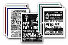 Everly Brothers  - 10 promotional posters - collectable postcard set # 1