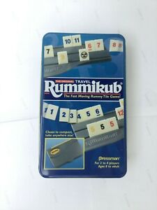 Vintage 1999 Original Travel Rummikub Rummy Tile Game by Pressman in tin case