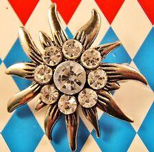 Trachten Dirndl Large Edelweiss Brooch Pin Oktoberfest Lederhosen Jewelry NEW