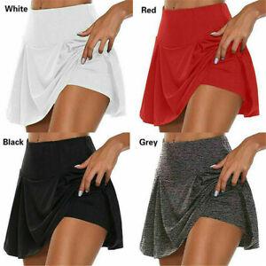 Plus Size Women Ladies Sport Skort Gym Yoga High Waisted Shorts Mini Skirt Dress