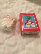 Russ Christmas Holiday Wind Chime Porcelain Santa Claus Miniature Vintage New