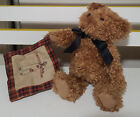 BOYDS TEDDY BEAR PLUSH TOY WITH BLANKET! SOFT TOY ABOUT 23CM TALL KIDS TOY!