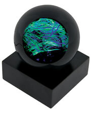 Speed of Light UV Light Celestial Paperweight Glass Eye Studio Art NIB 478F USA