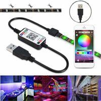 5V 5050 USB LED Strip Light Colour Change TV Back Lights Bluetooth Music Sync