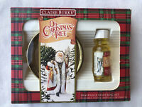 Vtg Claire Burke Fragrance Light Ring Set Oh Christmas Tree 1992 New Open Box