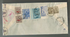 1941 Athens Greece Airmail Commercial Censored Cover Window Envelope