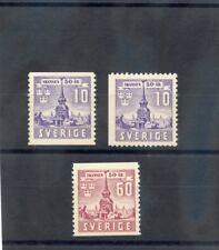 SWEDEN Sc 319-21(MI 283A,Dr-284A)**F-VF NH 1941 SET $75