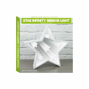 Star Infinity Mirror Light White LED Vanity Mood Light Make Up Cosmetic Present