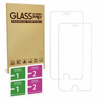 For iPhone 7 Plus - 100% Genuine Tempered Glass Film Screen Protector New Pack 2