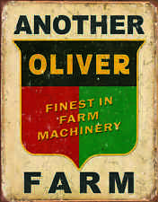"""TIN SIGN- """"ANOTHER OLIVER FARM """" TRACTOR  Barn Farm metal Sign"""