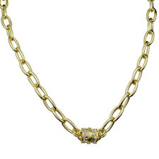 NEW KIRKS FOLLY FAME CHAIN MAGNETIC INTERCHANGEABLE NECKLACE GOLDTONE