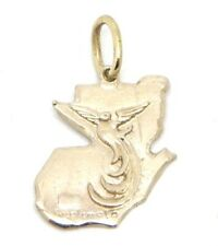 Sterling Silver 925 Guatemala with Quetzal Charm Pendant map