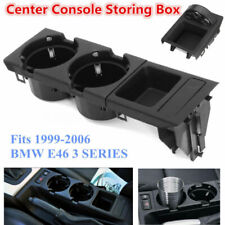 For BMW E46 3Series 99-06Front Center Console Drink Cup Holder Storing Coin Box
