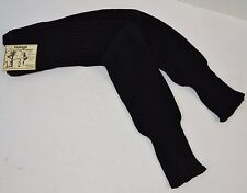 Vtg 1980's Fashion LEG WARMERS Black Ribbed Acrylic FLASHDANCE One Size - NOS