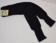 Vtg 1980's Fashion Leg Warmers Black Ribbed Acrylic Flashdance One Size - Nos