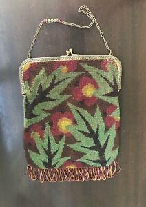 Antique Beaded Bag - Purse, Art Deco, Modernist, Frame Bag, Jeweled