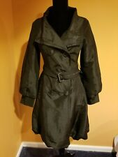 COFFE SHOP Black Long Sleeves Lined Double Breasted Bubble Hem Coat Sz Small