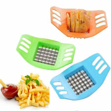 French Fry Potato Chip Cutter Vegetable Slicer Chopper Chipper Blade Home Use GW